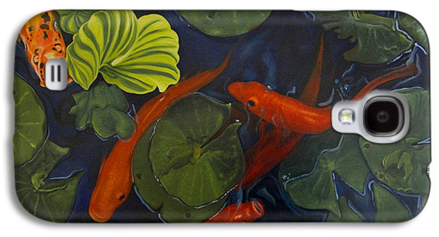 Painting Galaxy S4 Case featuring the painting Koi Ballet by Peter Muzyka