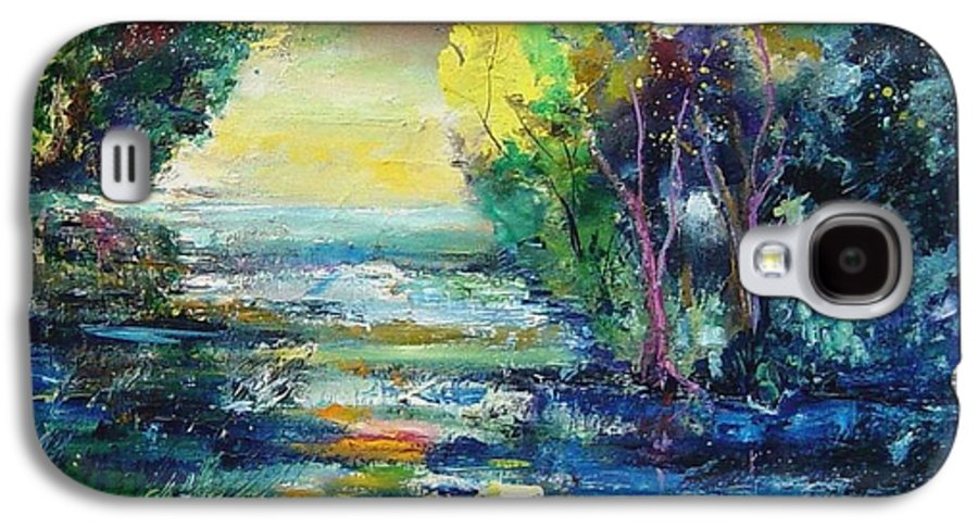 Pond Galaxy S4 Case featuring the painting Magic Pond by Pol Ledent