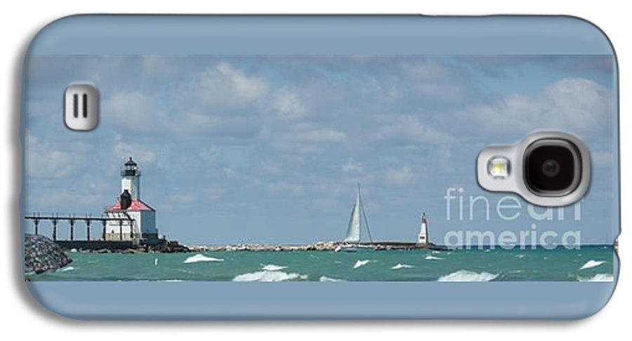 Scenery Galaxy S4 Case featuring the photograph Michigan City Beach Lighthouse by Barb Montanye Meseroll