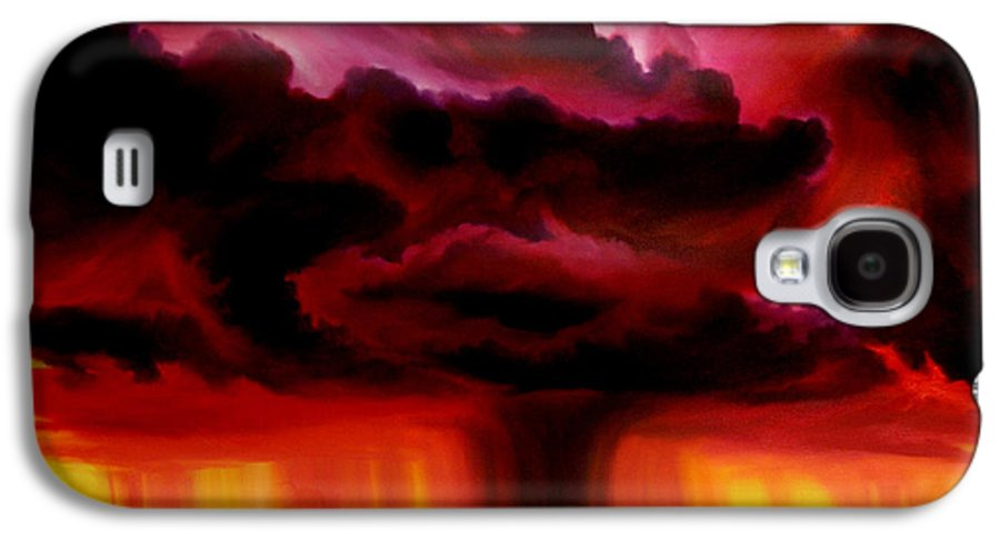Skyscape Galaxy S4 Case featuring the painting Microburst by James Christopher Hill