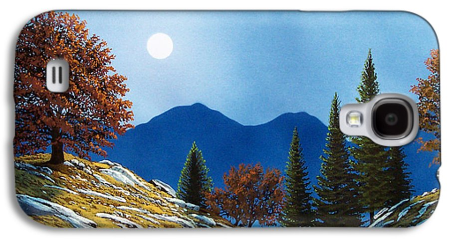 Landscape Galaxy S4 Case featuring the painting Mountain Moonrise by Frank Wilson
