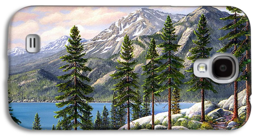 Landscape Galaxy S4 Case featuring the painting Mountain Trail by Frank Wilson