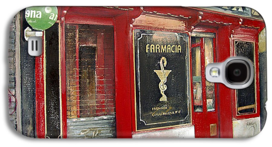 Farmacia Galaxy S4 Case featuring the painting Old Pharmacy by Tomas Castano