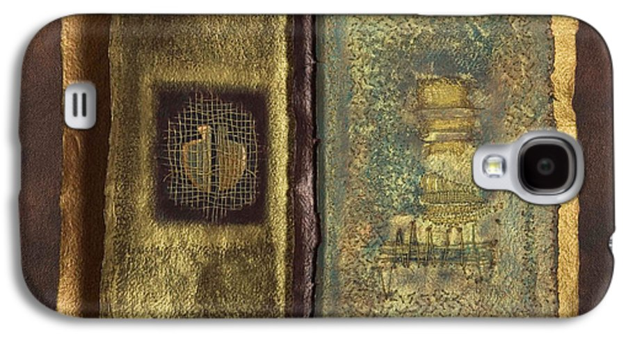 Artist-book Galaxy S4 Case featuring the mixed media Page Format No 1 Transitional Series by Kerryn Madsen-Pietsch