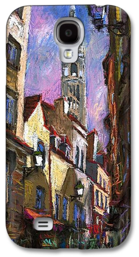 Pastel Galaxy S4 Case featuring the painting Paris Montmartre by Yuriy Shevchuk