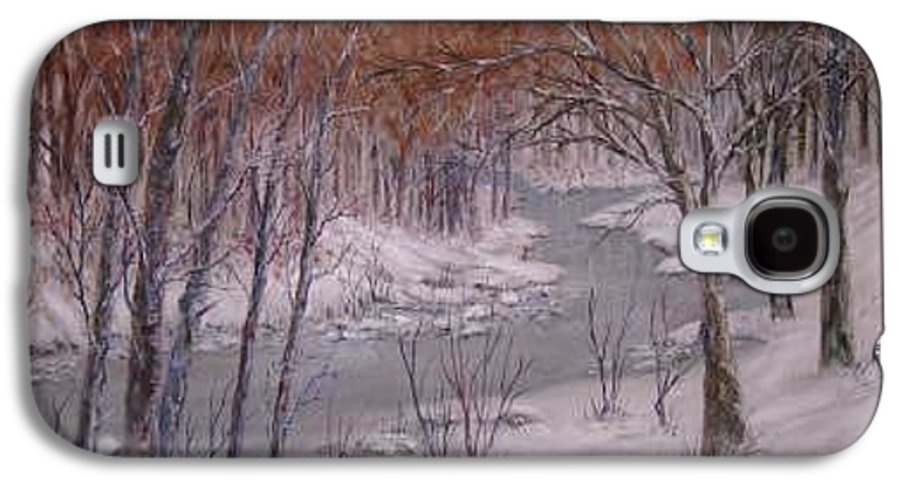 Snow; Landscape Galaxy S4 Case featuring the painting Peace And Quiet by Ben Kiger