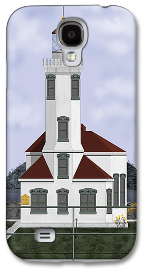 Lighthouse Galaxy S4 Case featuring the painting Point Wilson Lighthouse by Anne Norskog