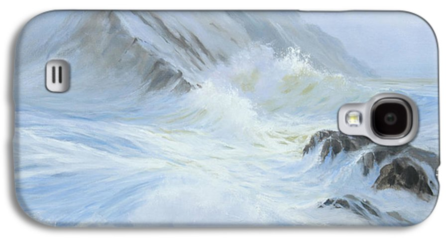 Seascape Galaxy S4 Case featuring the painting Quiet Moment II by Glenn Secrest