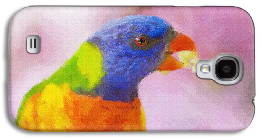 Rainbow Lorikeet Galaxy S4 Case featuring the photograph Rainbow Lorikeet by Sheila Smart Fine Art Photography