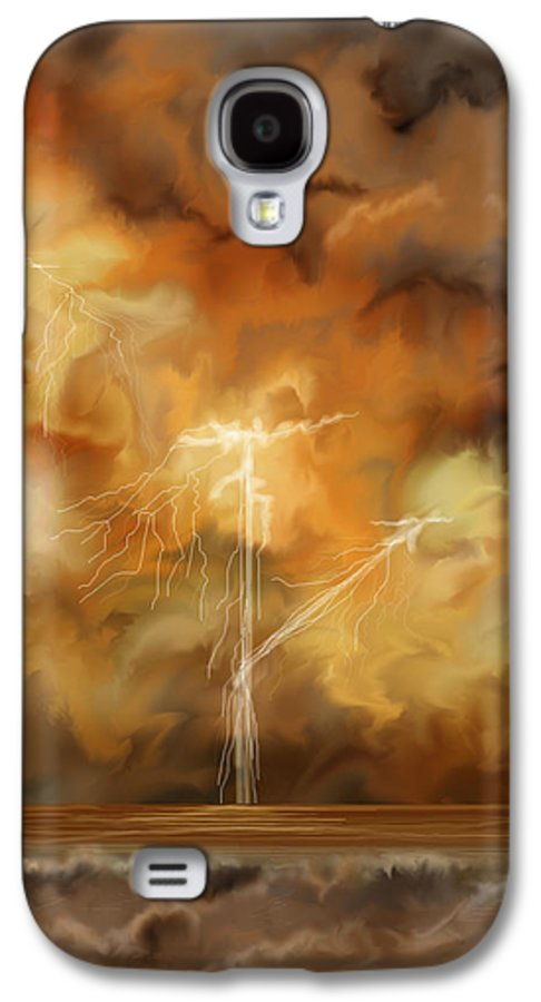 Anne Norskog Galaxy S4 Case featuring the painting Raw Power by Anne Norskog