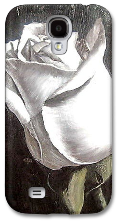 Flower Rose Still Life Galaxy S4 Case featuring the painting Rose 2 by Natalia Tejera