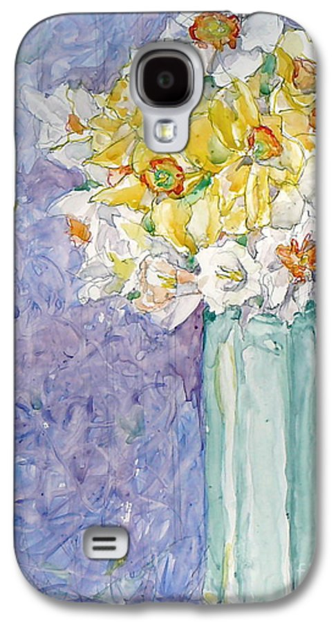 Watercolor Galaxy S4 Case featuring the painting Spring Blossoms by Jan Bennicoff