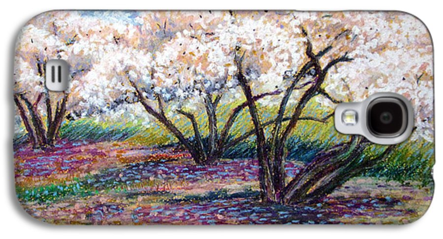 Oil Pastel Galaxy S4 Case featuring the painting Spring Has Sprung by Art Nomad Sandra Hansen