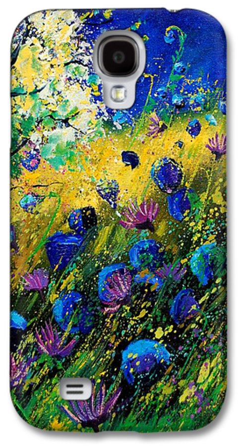 Poppies Galaxy S4 Case featuring the painting Summer 450208 by Pol Ledent