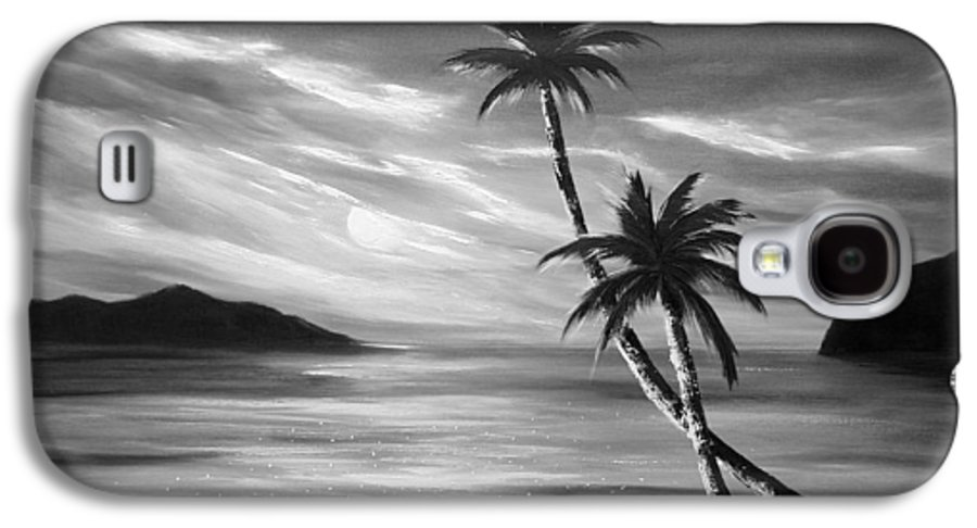 Sunset Galaxy S4 Case featuring the painting Sunset In Paradise by Gina De Gorna