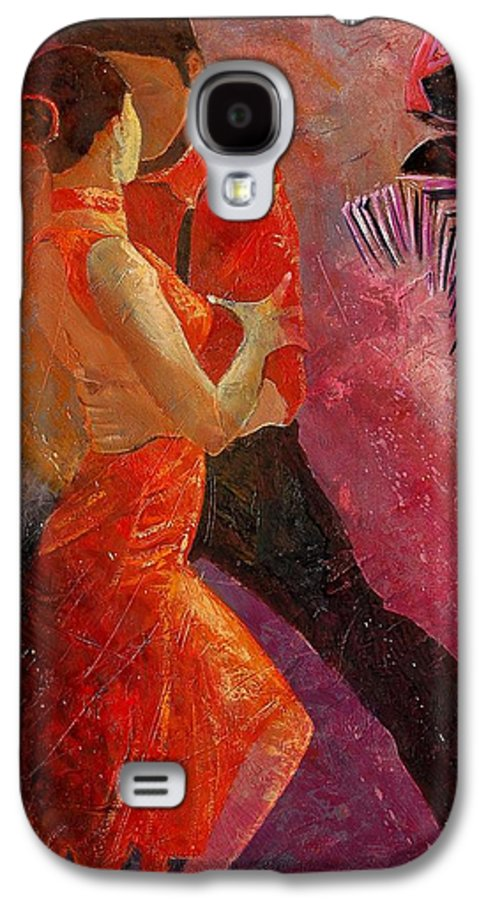 Tango Galaxy S4 Case featuring the painting Tango by Pol Ledent