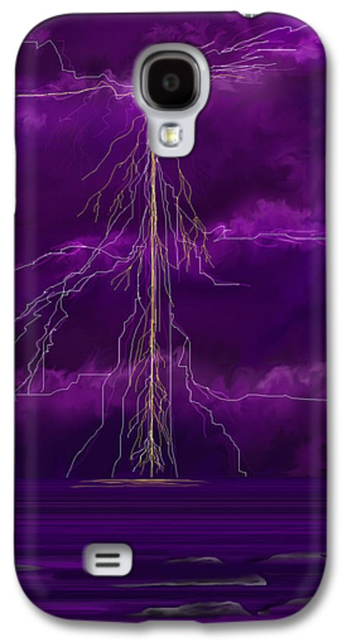 Lightning Storm Galaxy S4 Case featuring the painting Tesla by Anne Norskog