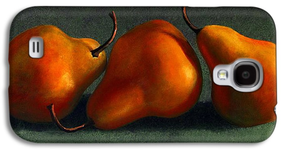 Still Life Galaxy S4 Case featuring the painting Three Golden Pears by Frank Wilson