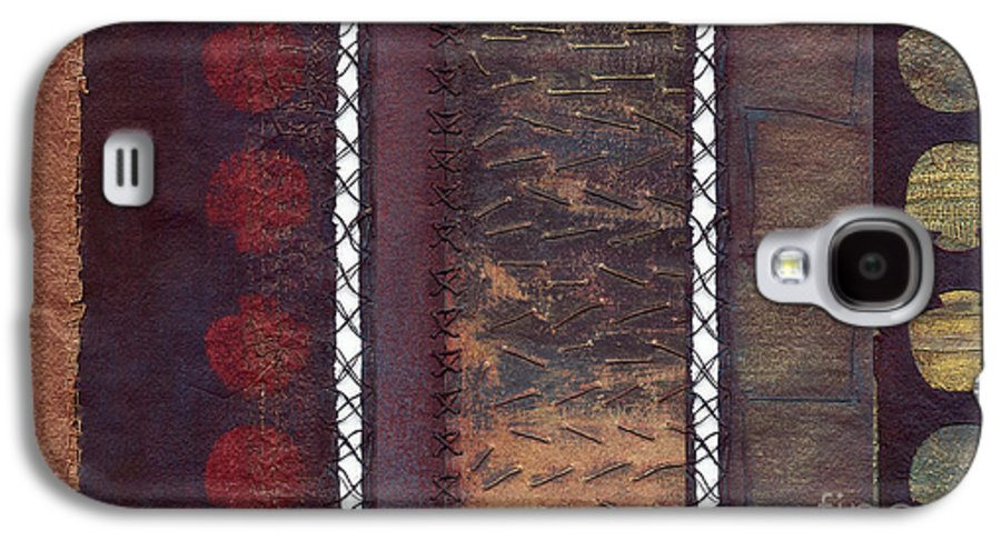 3panel Galaxy S4 Case featuring the painting Three Panel Transitional Page Format by Kerryn Madsen- Pietsch