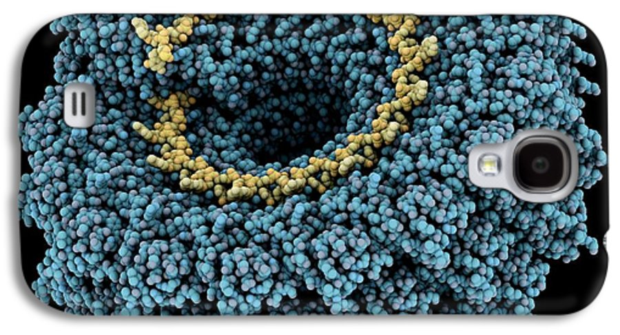 Tobacco Mosaic Virus Galaxy S4 Case featuring the photograph Tobacco Mosaic Virus, Molecular Model by Laguna Design