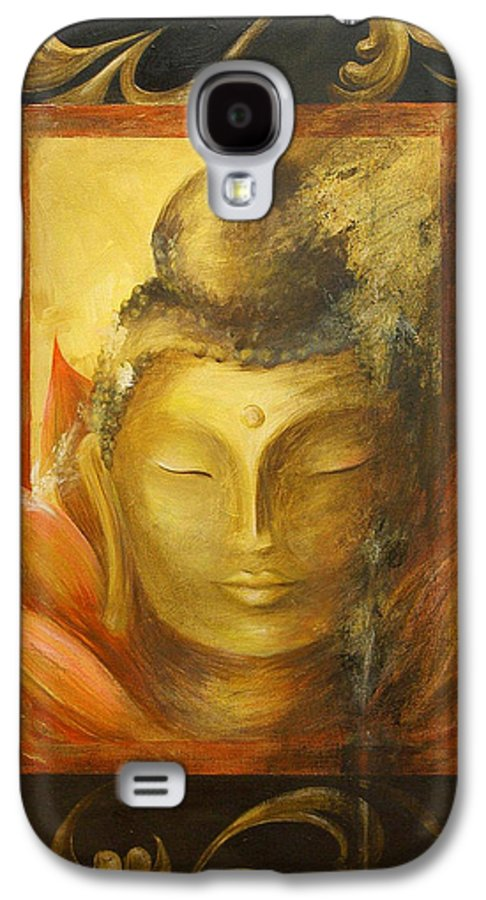 Buddha Buddhist Spiritual Yoga Lotus Meditation Galaxy S4 Case featuring the painting Transcendence by Dina Dargo