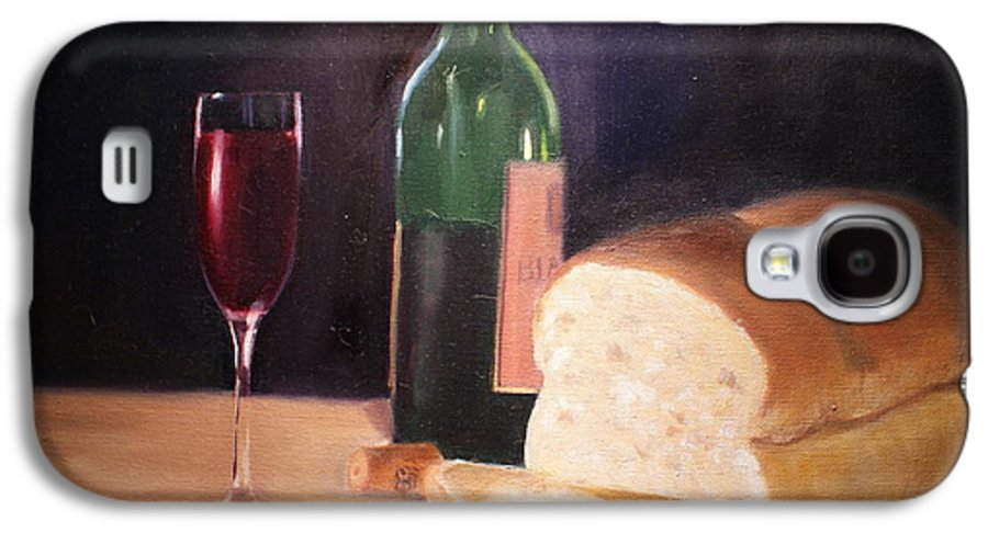 Wine Galaxy S4 Case featuring the painting Untitled by Toni Berry
