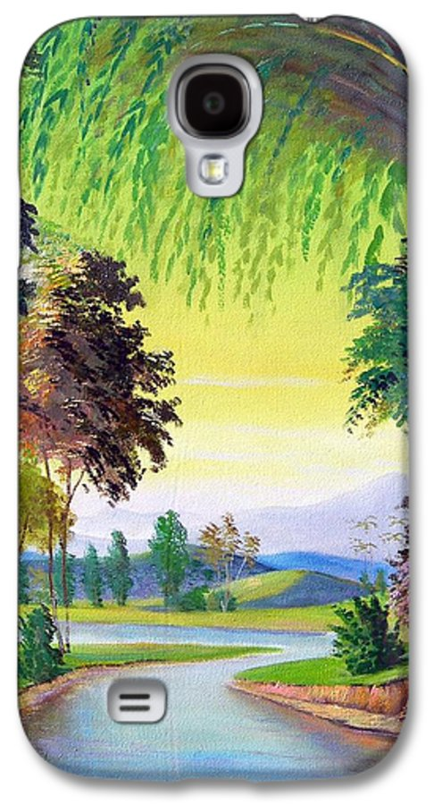 Landscape Galaxy S4 Case featuring the painting Verde Que Te Quero Verde by Leomariano artist BRASIL