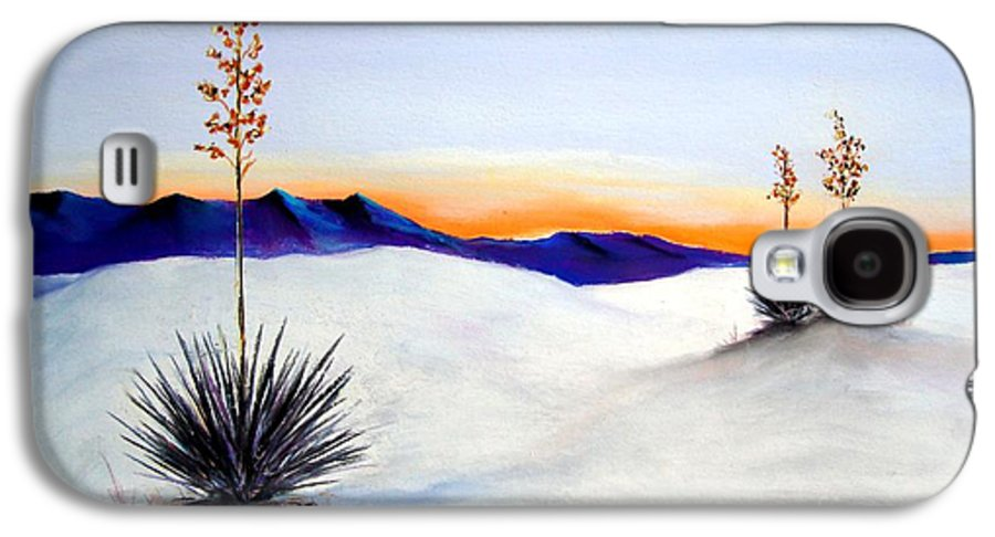 White Sands Galaxy S4 Case featuring the painting White Sands by Melinda Etzold