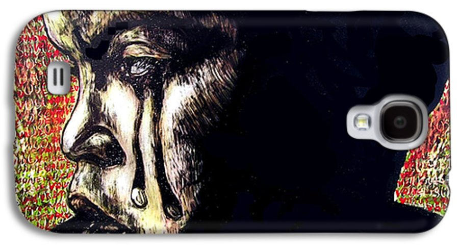Galaxy S4 Case featuring the mixed media 1140 by Chester Elmore