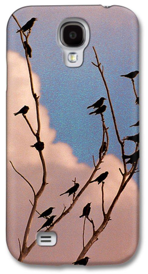 Birds Galaxy S4 Case featuring the photograph 19 Blackbirds by Steve Karol