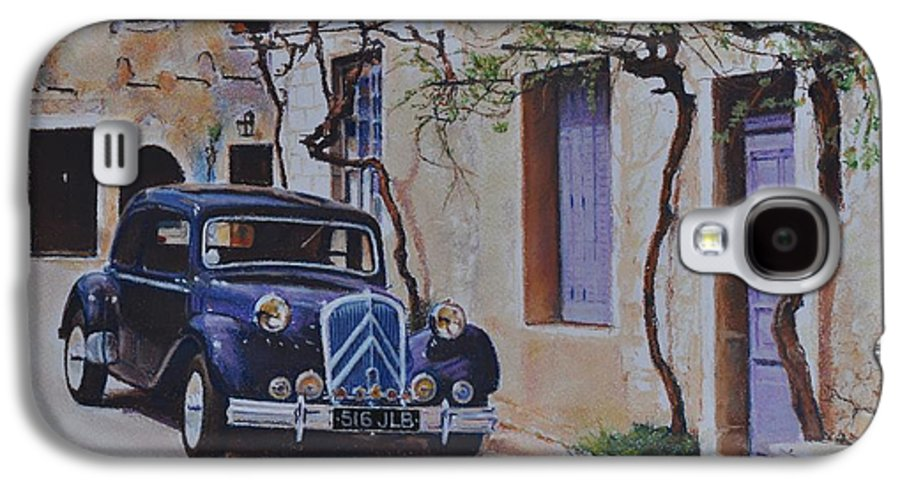 Classic Cars Galaxy S4 Case featuring the painting 1951's Citroen by Iliyan Bozhanov