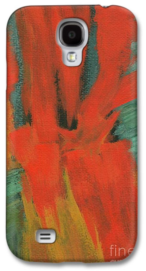 Abstract Galaxy S4 Case featuring the painting A Moment In Time by Itaya Lightbourne