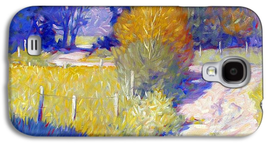 Landscape Galaxy S4 Case featuring the painting Back Road by Kevin Lawrence Leveque