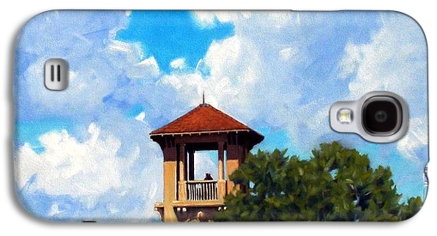 Sky Galaxy S4 Case featuring the painting Bell Tower by Kevin Lawrence Leveque