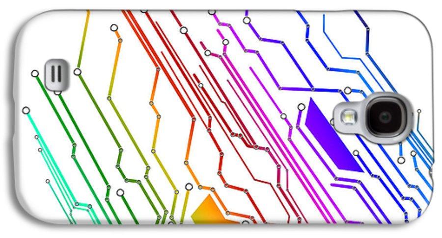 Abstract Galaxy S4 Case featuring the photograph Circuit Board Technology by Setsiri Silapasuwanchai