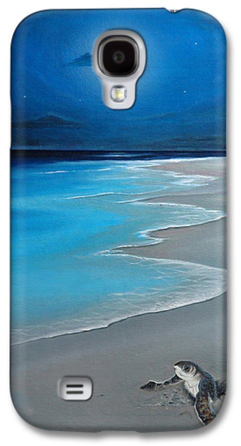 Seascape Art Galaxy S4 Case featuring the painting First Born by Angel Ortiz