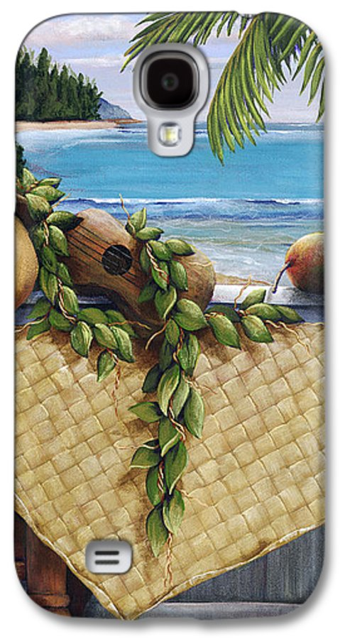 Acrylic Galaxy S4 Case featuring the painting Hawaiian Still Life Panel by Sandra Blazel - Printscapes