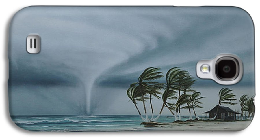 Galaxy S4 Case featuring the painting Mahahual by Angel Ortiz