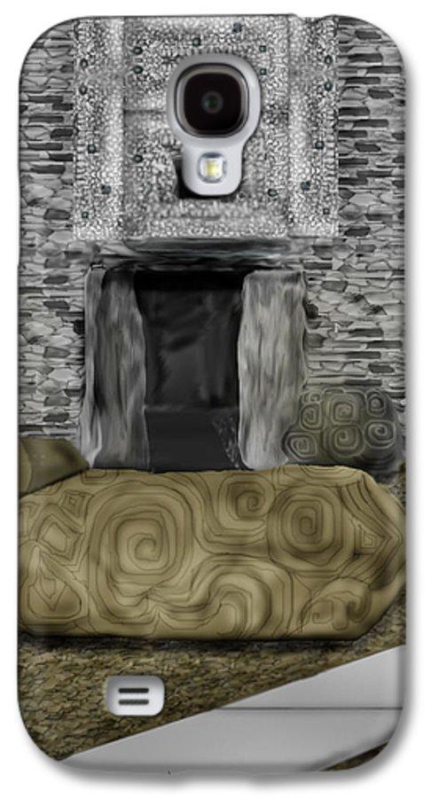 Newgrange Galaxy S4 Case featuring the painting Newgrange Ireland by Anne Norskog