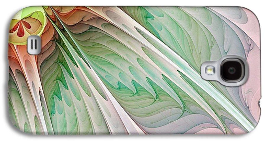 Digital Art Galaxy S4 Case featuring the digital art Petals by Amanda Moore