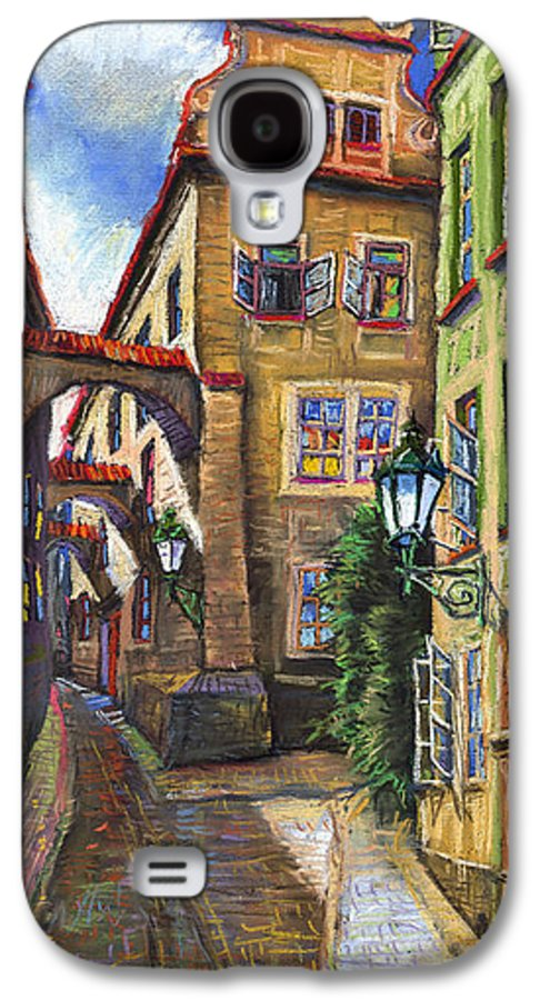Prague Galaxy S4 Case featuring the painting Prague Old Street by Yuriy Shevchuk