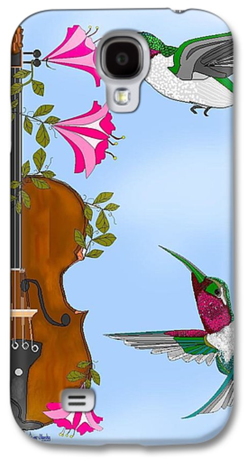 Fantasy Galaxy S4 Case featuring the painting Singing The Song Of Life by Anne Norskog