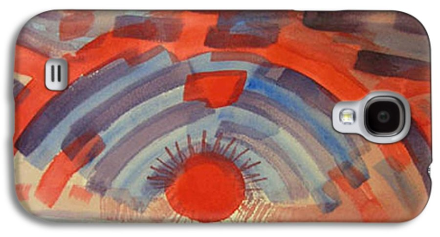 Landscape Galaxy S4 Case featuring the painting Sunset On The Horizon by Natalee Parochka