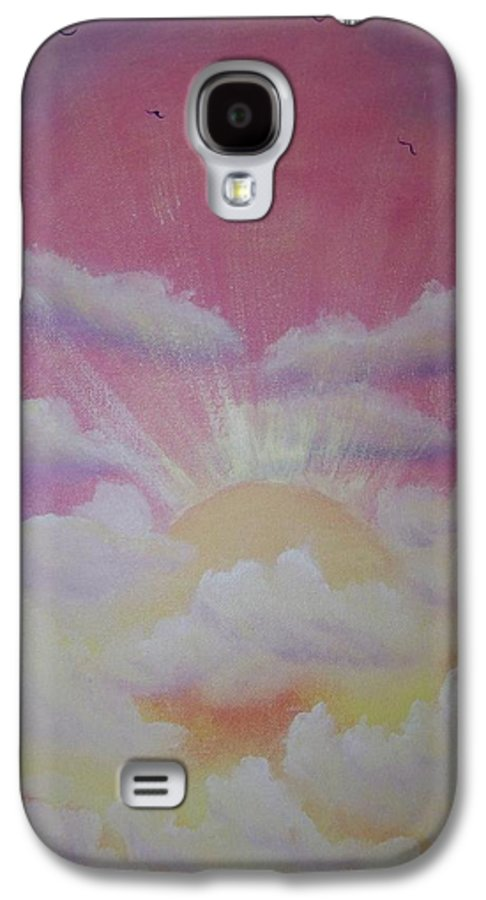 Bird Galaxy S4 Case featuring the painting The Ascension by Laurie Kidd