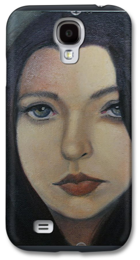 Girl Galaxy S4 Case featuring the painting That Stare by Toni Berry