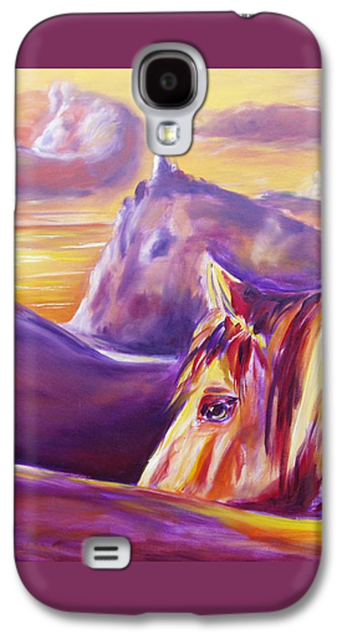 Horses Galaxy S4 Case featuring the painting Horse World by Gina De Gorna