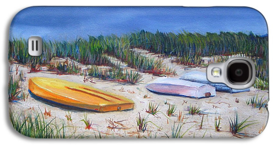 Cape Cod Galaxy S4 Case featuring the painting 3 Boats by Paul Walsh