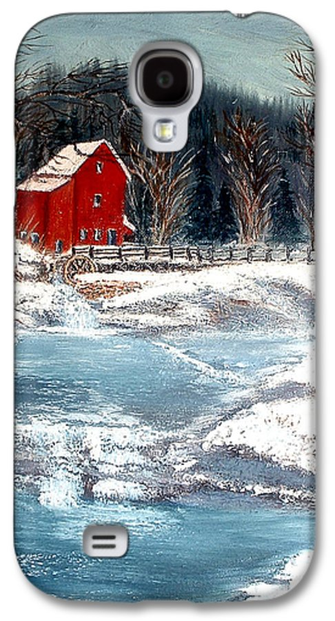 Landscape Mill Old Streem Creek Galaxy S4 Case featuring the painting Old Mill by Kenneth LePoidevin