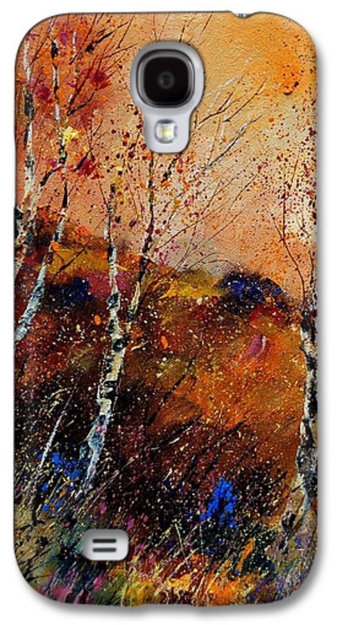 River Galaxy S4 Case featuring the painting 3 Poplars by Pol Ledent