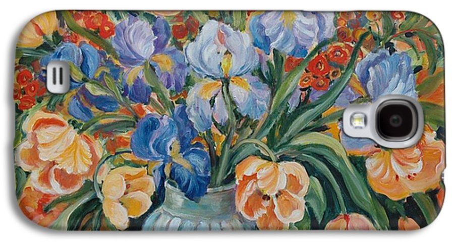 Still Life Galaxy S4 Case featuring the painting Tulips by Alexandra Maria Ethlyn Cheshire